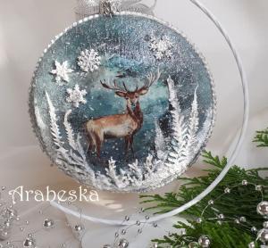 baśniowy medalion z jeleniem_a